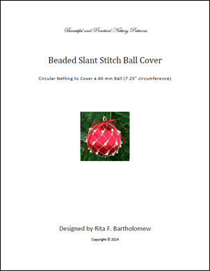Slant Stitch with beads ball cover