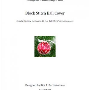 Block Stitch ball cover