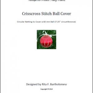 Crisscross Stitch ball cover