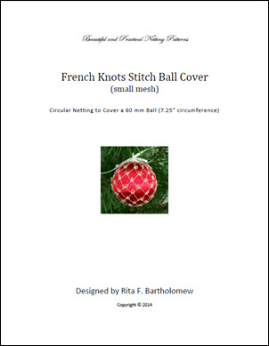 French Knot Stitch - small mesh ball cover