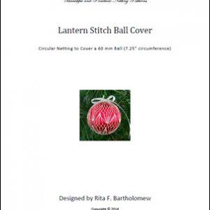 Lantern Stitch ball cover