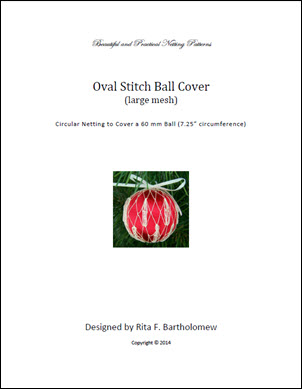 Oval Stitch - large mesh ball cover