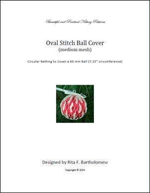 Oval Stitch - medium mesh ball cover