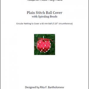 Plain Stitch Ball Cover - Spiraling Beads