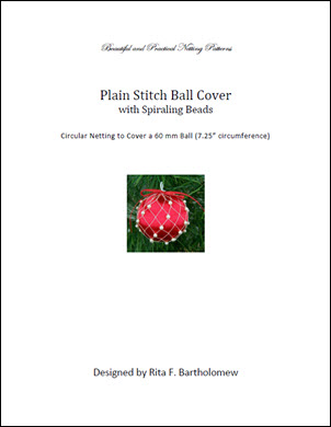 Plain Stitch Ball Cover - Spiraling Beads