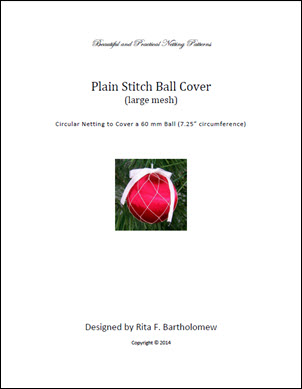 Plain Stitch - large mesh ball cover