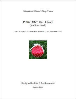 Plain Stitch - medium mesh ball cover