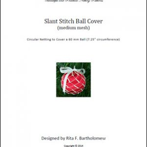 Slant Stitch - medium mesh ball cover