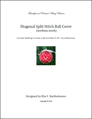 Split Stitch - medium mesh (Diagonal) ball cover