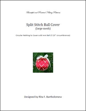 Split Stitch - large mesh ball cover