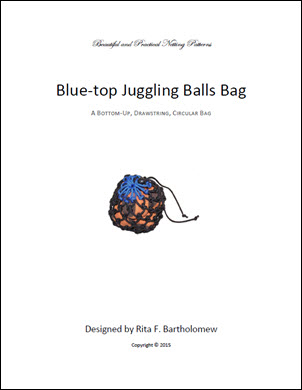 Juggling Balls Bag - Blue Top: a net bag