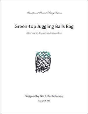 Juggling Balls Bag - Green Top: a net bag