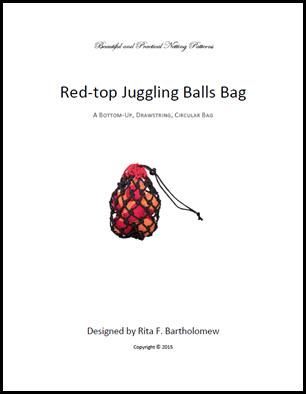 Juggling Balls Bag - Red Top: a net bag