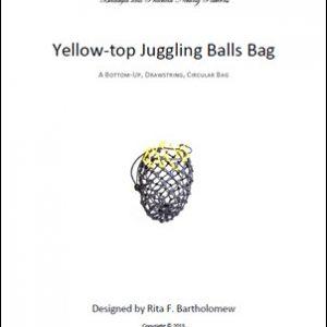 Juggling Balls Bag - Yellow Top: a net bag