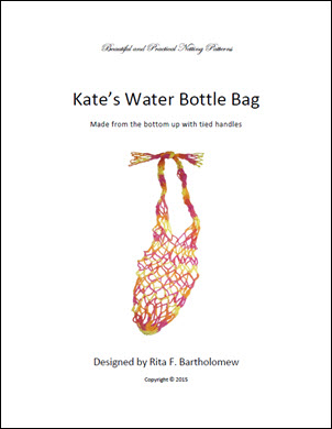 Kate's Water Bottle Bag: a net bag