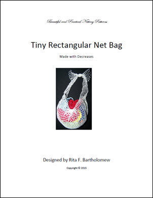 Rectangular Bag (Tiny) with Decreases: a net bag
