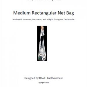 Rectangular Bag (Medium) with a Triangular Tied Handle: a net bag