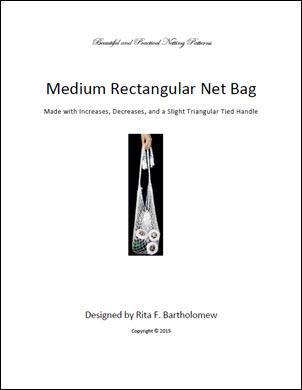 Rectangular Bag (Medium) with a Triangular Tied Handle: a net bag