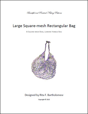 Rectangular Square-Mesh Bag (Large) with a Lumiere Handle: a net bag