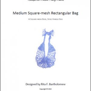 Rectangular Square-Mesh Bag (Medium) with a Spike Handle: a net bag