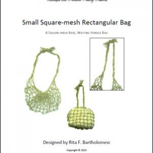 Rectangular Square-Mesh Bag (Small) with a Waiting Handle: a net bag