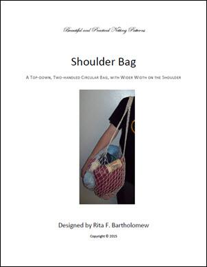 Shoulder Bag with a Wide-Width Shoulder: a net bag