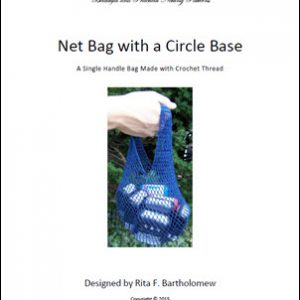 Spiral Bag - Circle Base: a net bag