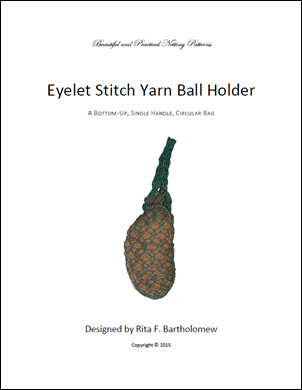 Yarn Ball Holder - Eyelet Stitch Bag: a net bag