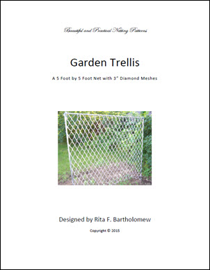 Trellis: Diamond-mesh Netting (5' x 5') 3""