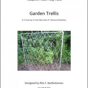 "Trellis: Diamond-mesh Netting (5' x 5') 6"" mesh"
