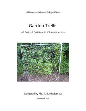 "Trellis: Diamond-mesh Netting (5' x 5') 6"" mesh"