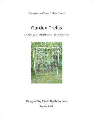 """Trellis: Square-mesh Netting (4' x 5') 3"""" mesh"""