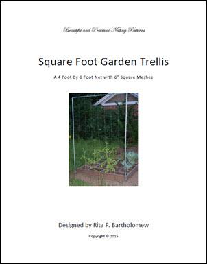 """Trellis: Square-mesh Netting (4' x 6') 6"""" mesh"""
