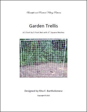 """Trellis: Square-mesh Netting (5' x 5') 3"""" mesh"""