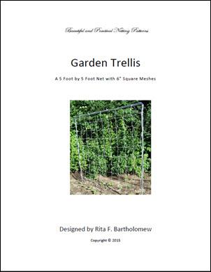 """Trellis: Square-mesh Netting (5' x 5') 6"""" mesh"""