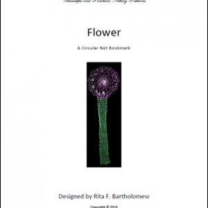 a net bookmark: Flower