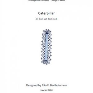 Caterpillar: an oval net bookmark