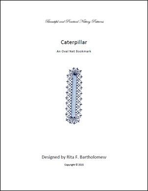 Caterpillar: an oval net bookmark