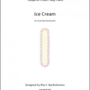 Ice Cream: an oval bookmark
