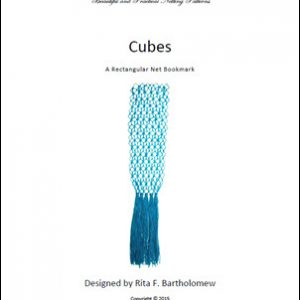 Cubes: a rectangular net bookmark