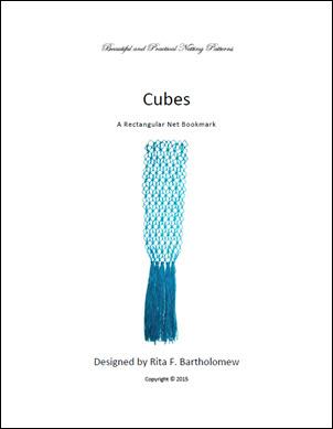 Cubes: a rectangular net bookmark