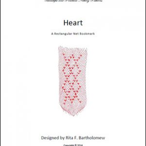 Heart: a rectangular net bookmark