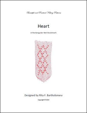 Heart: a rectangular net bookmark
