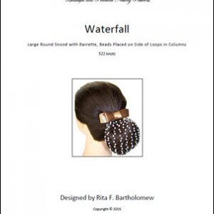 Snood: Waterfall - Large, Round, Beads on Side of Mesh Form Columns (522 knots)