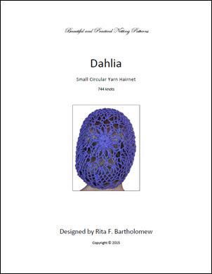Hairnet: Dahlia - small, yarn (744 knots)