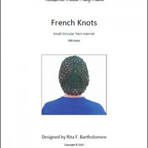 Hairnet: French Knots - small, yarn (696 knots)