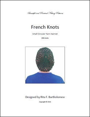 Hairnet: French Knots - small, yarn (696 knots)