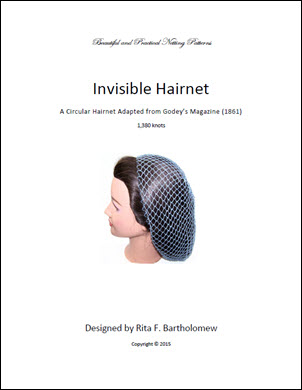 Hairnet: Godey's Invisible from 1861 (1,380 knots)