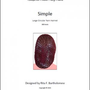 Hairnet: Simple - large, yarn (600 knots)