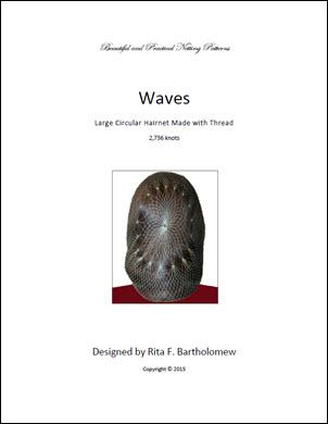 Hairnet: Waves - large, thread (2,736 knots)